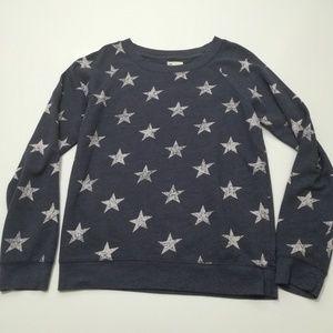Gap Blue Crew Neck Sweatshirt with White Stars